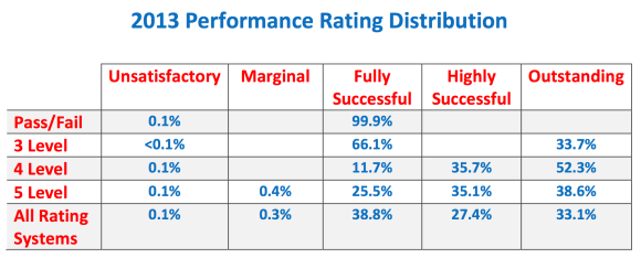2013 Performance Rating Distribution